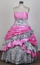 Gorgeous Ball Gown Strapless Floor-length Quinceanera Dress LZ426020