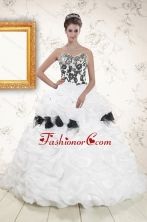 Hot White Sweet 15 Dresses with Pick Ups and Hand Made Flowers XFNAO806FOR