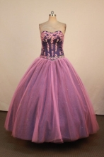 Informal Ball Gown Sweetheart Neck Floor-Length Lavender Appliques Quinceanera Dresses Style FA-S-22