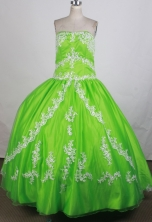 Luxurious Ball Gown Strapless Floor-length Quinceanera Dress ZQ12426065