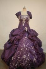 Luxurious Ball Gown Strapless Floor-length Quinceanera Dresses Appliques with Beading Style FA-Z-017