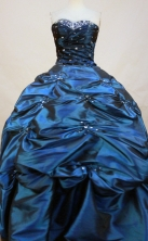 Luxurious Ball Gown Sweetheart Neck Floor-Length Green Beading Quinceanera Dresses Style FA-S-133