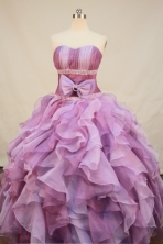 New Arrival Ball Gown Sweetheart Neck Floor-Length Orangza Lavender Beading Quinceanera Dresses Style FA-S-139
