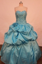 Perfect Ball Gown SweetheartFloor-length Quinceanera Dresses Appliques with Beading Style FA-Z-0180