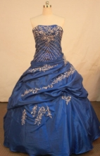 Pretty Ball Gown Straps Floor-length Quinceanera Dresses Appliques with Beading Style FA-Z-0292
