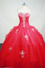 Pretty Ball Gown Sweetheart Neck Floor-Length Hot Pink Beading and Appliques Quinceanera Dresses Style FA-S-162