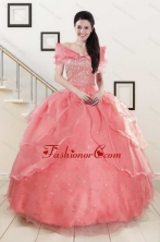 Pretty Beaded Ball Gown Sweetheart Quinceanera Dresses XFNAOA27AFOR