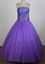 Simple A-line Strapless Floor-length Quinceanera Dress ZQ12426049