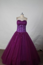 Simple Ball gown Sweetheart neck Floor-Length Quinceanera Dresses Style FA-Y-06