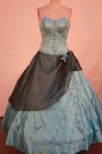 The Super Hot Ball Gown Sweetheart Floor-length Quinceanera Dresses Appliques Style FA-Z-0313
