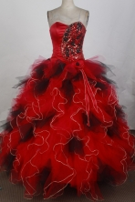 2012 Unique Ball Gown Sweetheart Floor-Length Quinceanera Dresses Style JP42674