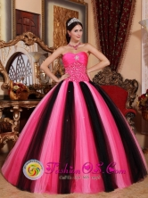 2013 Quetzaltenango Guatemala Evening Modest Multi-color Sweetheart Quinceanera Dress with Tulle Beading In Style QDZY483FOR