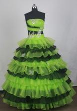 Beautful Ball Gown Strapless Floor-length Quinceanera Dress LZ426025