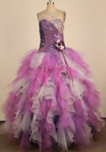 Colorful Ball Gown Sweetheart Neck Floor-Length Lavender Beading Quinceanera Dresses Style FA-S-212