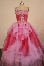 Colorful Ball gown Strapless Floor-length Quinceanera Dresses Style FA-W-318