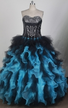Luxuriously Ball Gown Strapless Floor-length Baby Blue Quinceanera Dress X0426045
