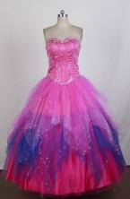 Modest Ball Gown Sweetheart Floor-length Quinceanera Dress ZQ1242607
