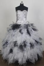 Pretty Ball Gown Sweetheart Floor-length Quinceanera Dress ZQ12426076