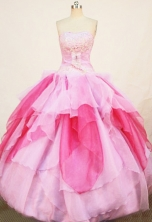 Pretty ball gown Strapless Floor-length Quinceanera Dresses Embroidery Style FA-Z-0263