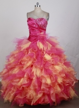 The Most Popular Ball Gown Strapless Floor-length Colorful Quinceanera Dress X0426084
