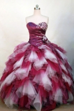 Wonderful Ball Gown Strapless Floor-length Beading Quinceanera dress Style FA-L-312