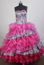 Wonderful Ball gown Strapless Floor-length Quinceanera Dresses Style FA-W-r19