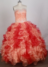 2012 Luxurious Ball Gown Sweetheart Neck Floor-Length Quinceanera Dresses Style JP42608