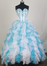2012 Unique Ball Gown Sweetheart Neck Floor-Length Quinceanera Dresses Style JP42637