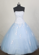 Affordale Ball gown Strapless Floor-length Quinceanera Dresses Style FA-W-r20