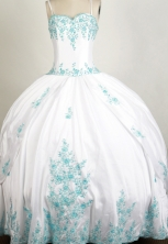 Beautiful Ball Gown Straps Floor-length White Quinceanera Dress Y042656