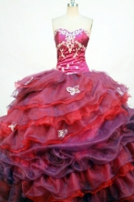 Beautiful Ball Gown Sweetheart Floor-length Quinceanera Dresses Appliques with Beading Style FA-Z-0241