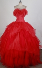 Beautiful Ball gown Strapless Floor-length Quinceanera Dresses Style FA-W-r44