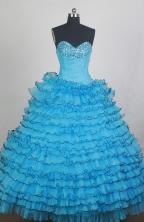 Beautiful Ball gown Sweetheart-neck Floor-length Quinceanera Dresses Style FA-W-r04