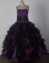 Brand New Ball Gown Strapless Floor-length Quinceanera Dress LJ2671