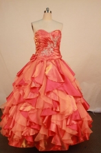 Brand New Ball Gown Sweetheart Neck Floor-Length Quinceanera Dresses TD2460