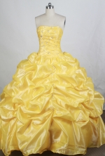 Brand New Ball gown Strapless Floor-length Quinceanera Dresses Style FA-W-r61