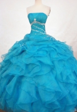 Cute Ball Gown Strapless Floor-length Quinceanera Dresses Style FA-W-310