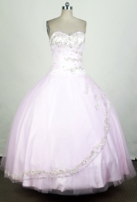 Cute Ball Gown Sweetheart Floor-length Pink Quinceanera Dress Y042625