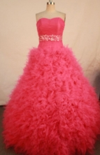 Cute Ball Gown Sweetheart Floor-length Quinceanera Dresses Beading Style FA-Z-0300