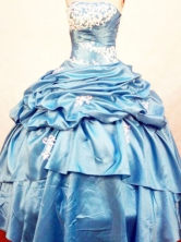 Discount Ball Gown Strapless Floor-length Quinceanera Dresses Style FA-W-319