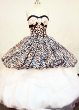 Discount Ball Gown SweetheartFloor-length Quinceanera Dresses Appliques Style FA-Z-0185