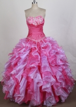 Discount Ball gown Sweetheart Floor-length Quinceanera Dresses Style FA-W-r25