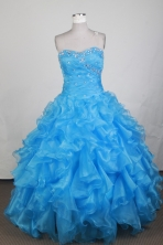 Exclusive Ball Gown Sweetheart Neck Floor-length Baby Blue Quinceanera Dress LZ426001