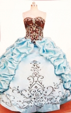 Exquisite Ball Gown Strapless Floor-length Quinceanera Dresses Style FA-W-320