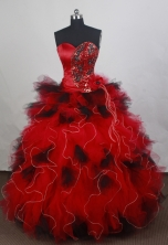 Exquisite Ball gown Sweetheart Floor-length Quinceanera Dresses Style FA-W-r12