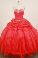 Fashionable Ball Gown SweetheartFloor-length Quinceanera Dresses Appliques with Beading Style FA-Z-0182