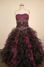 Gorgeous Ball Gown Strapless Floor-Length Quinceanera Dresses TD2468