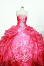 Gorgeous Ball Gown Strapless Floor-length Quinceanera dress Style FA-W-353