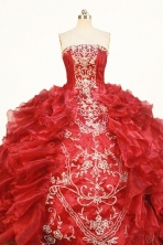 Gorgeous Ball Gown Strapless Floor-length Quinceanera dress Style FA-W-354