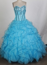 Gorgeous Ball Gown Sweetheart Floor-length Quinceanera Dress ZQ1242601